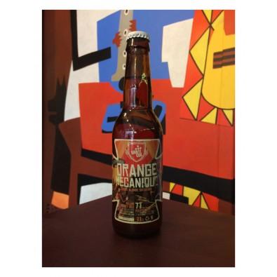 Bouteille de bière Sainte Cru Orange Mécanique