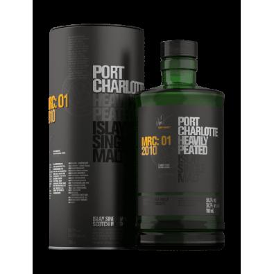 Bouteille de whisky Port Charlotte MRC:01 2010