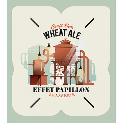 Bouteille de bière Effet Papillon Wheat Ale