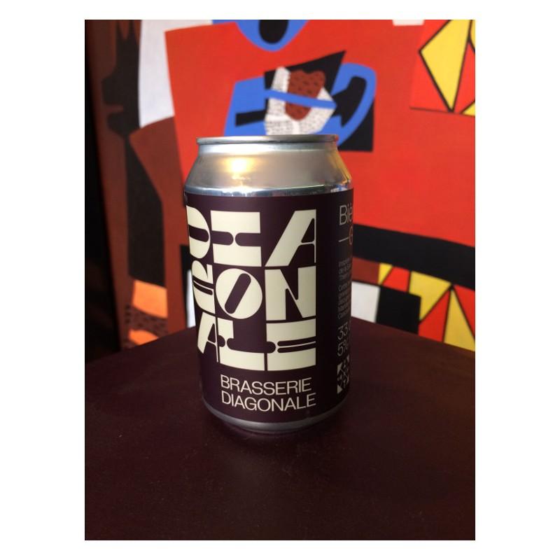 Bouteille de bière Diagonale Blanche Grenade