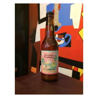 Bouteille de bière Effet Papillon Joyeuses Tropiques