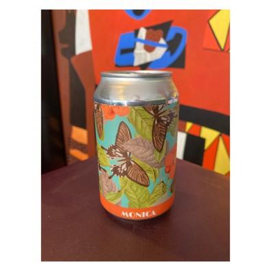 Canette de bière Effet Papillon Monica