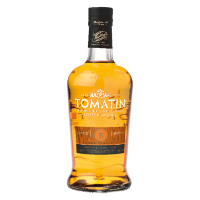 Bouteille de whisky Tomatin 8 ans Moscatel