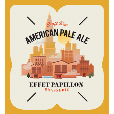 Bouteille de bière Effet Papillon American Pale Ale