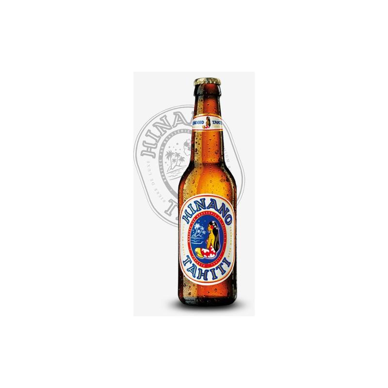 Bouteille de bière Hinano Lager Blonde