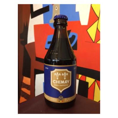 Bouteille de bière Chimay Bleue
