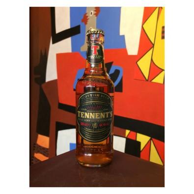 Bouteille de bière Tennent's Whisky