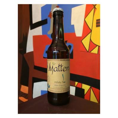 Bouteille de bière White Fox - Brasserie Matten