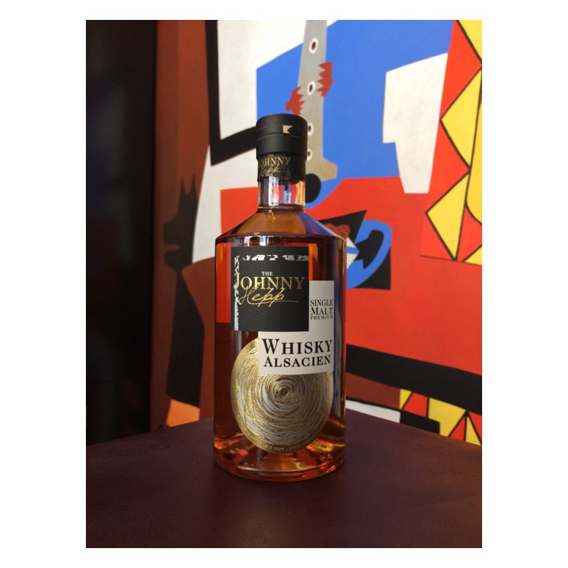 Bouteille de whisky Johnny Hepp - Single Malt alsacien