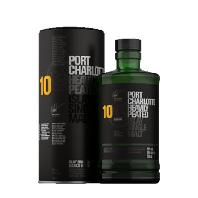 Bouteille de whisky Port Charlotte 10 ans