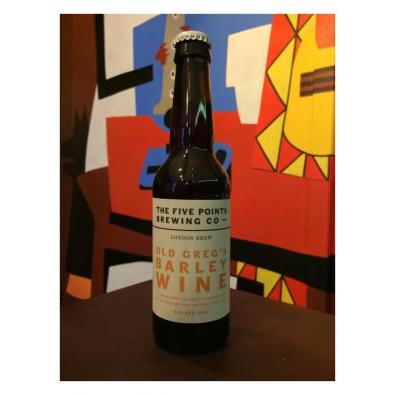 Bouteille de bière Five Points Old Greg's Barley Wine